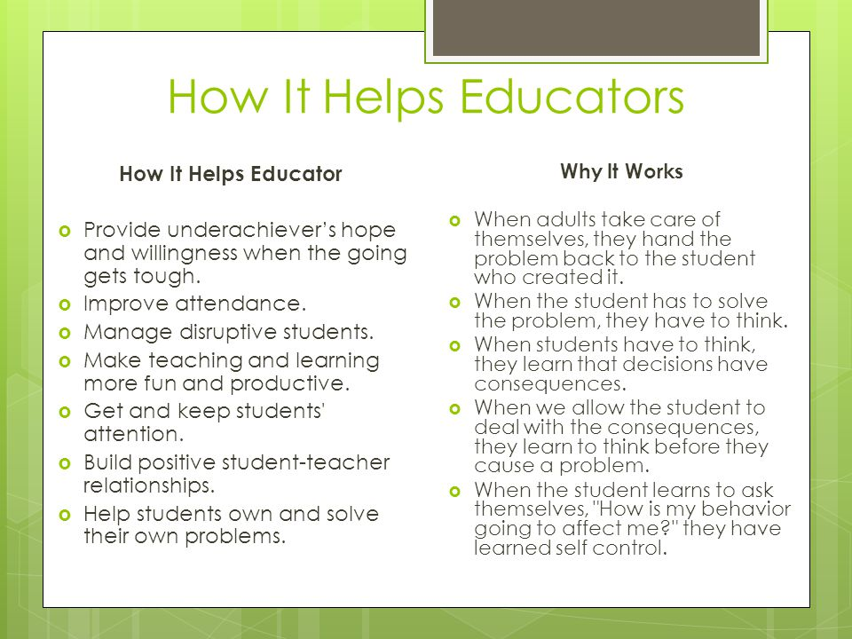 How It Helps Educators How It Helps Educator