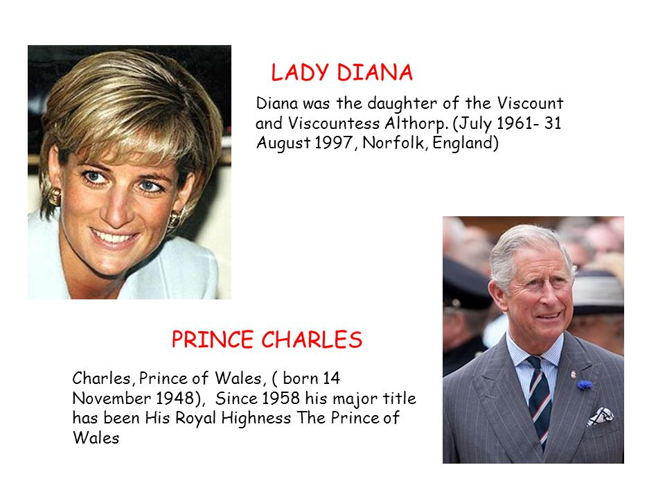 LADY DIANA PRINCE CHARLES