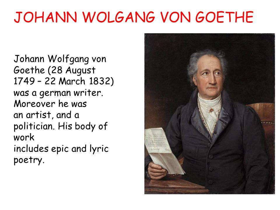 JOHANN WOLGANG VON GOETHE