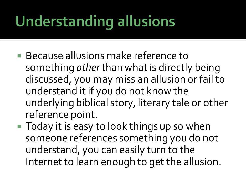 Understanding allusions