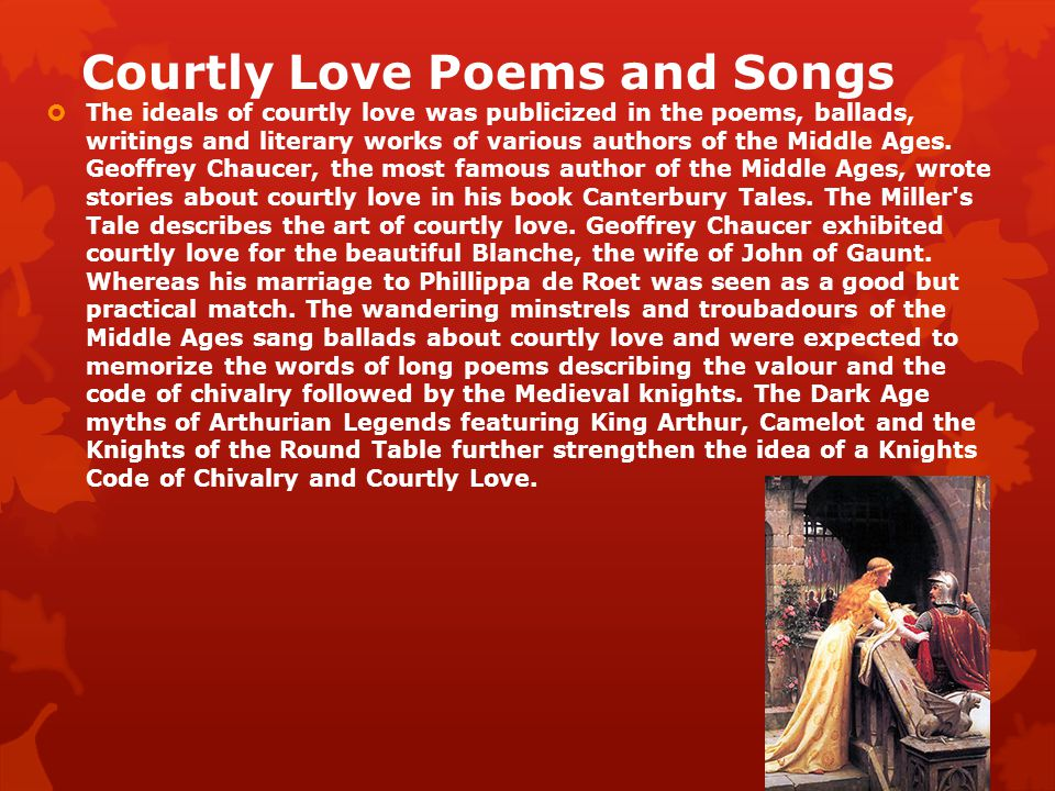 "the idea of courtly love in poetry of troubadours ""courtly love"": a problem of terminology- john c  and in poetry of the troubadours  ""alfred jeanroy developed at length another idea of courtly."