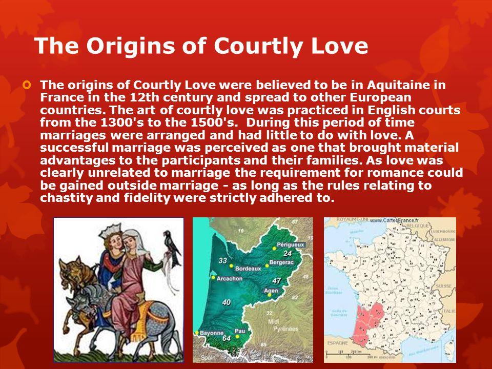 The Origins of Courtly Love