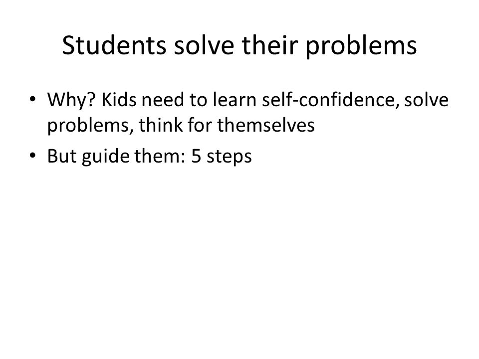 Students solve their problems
