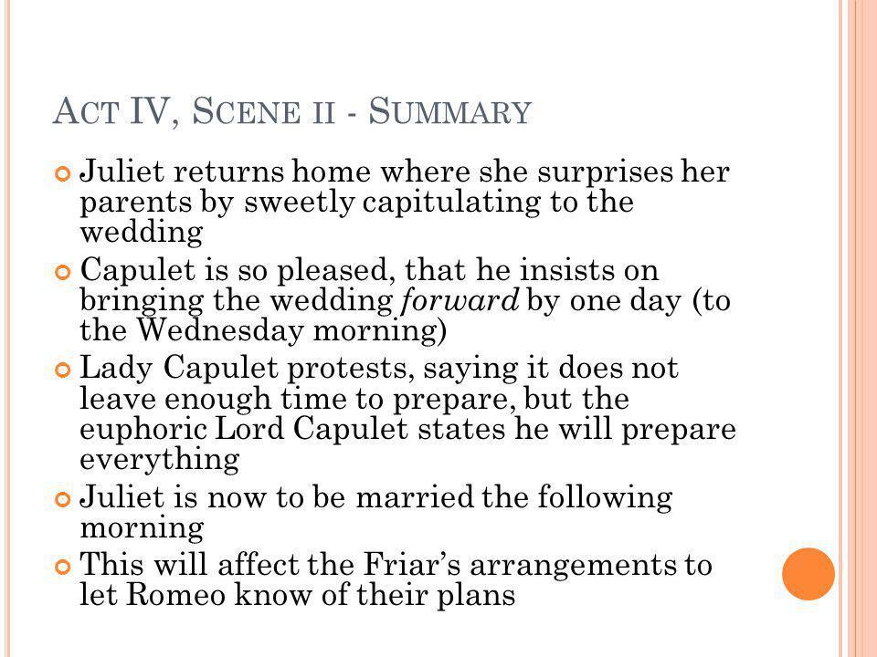 Act IV, Scene ii - Summary