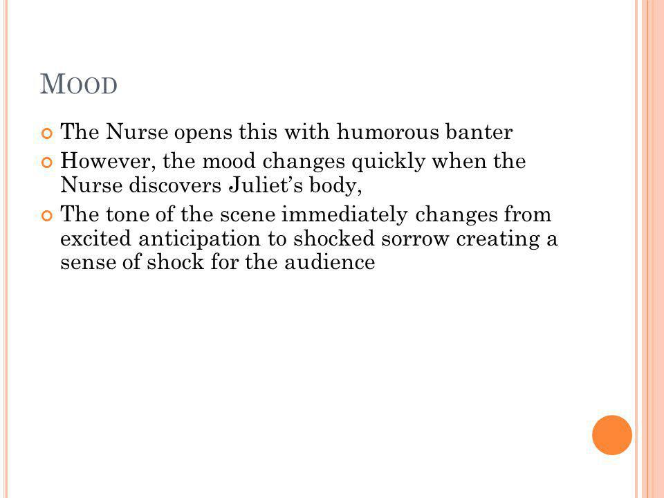 Mood The Nurse opens this with humorous banter