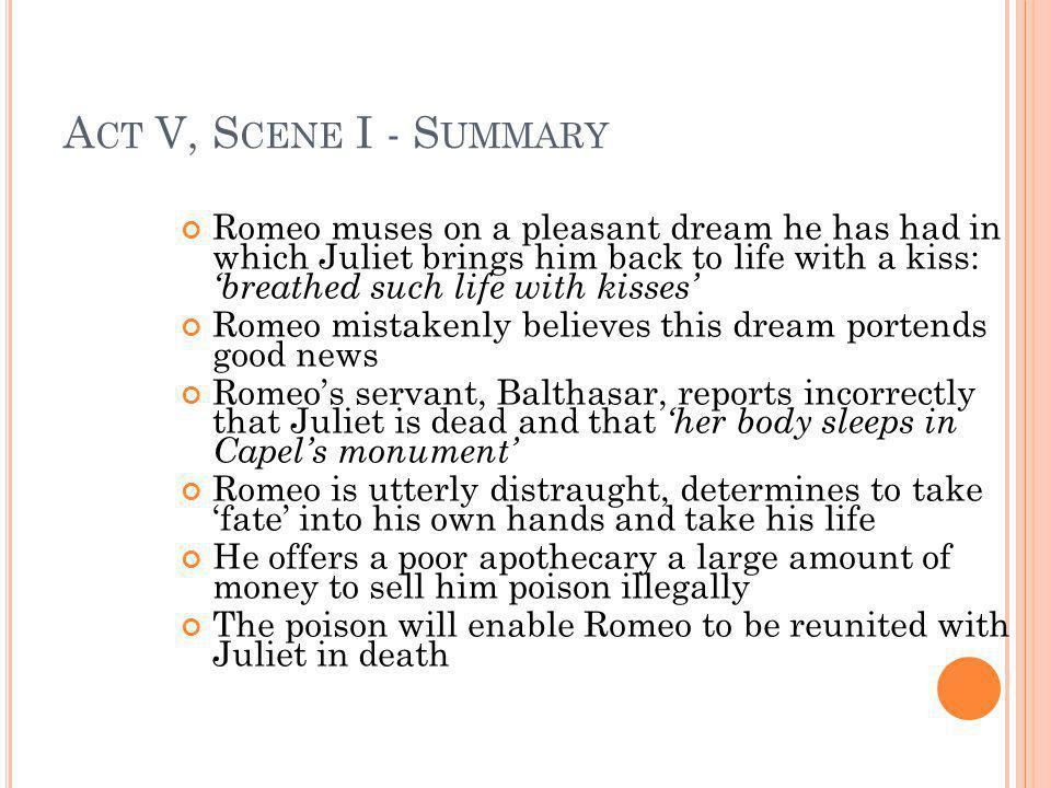 Act V, Scene I - Summary