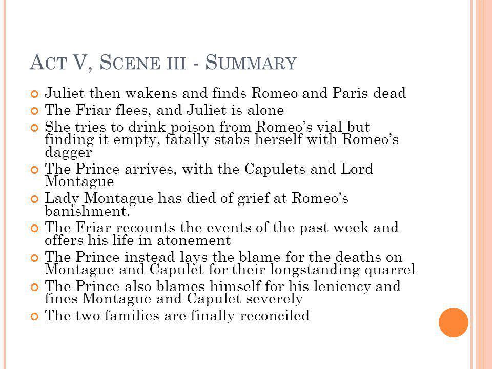 Act V, Scene iii - Summary
