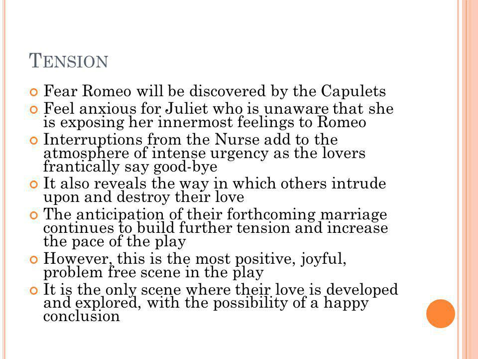 Tension Fear Romeo will be discovered by the Capulets