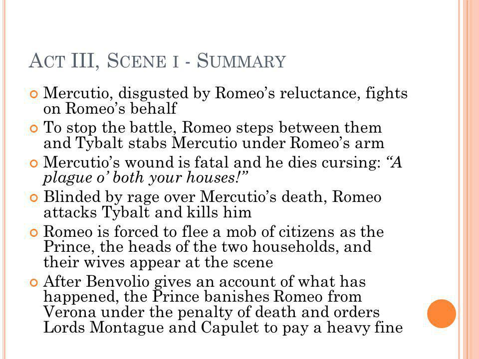 books and reviews Romeoand Juliet essay, Act 3 Scene 1.