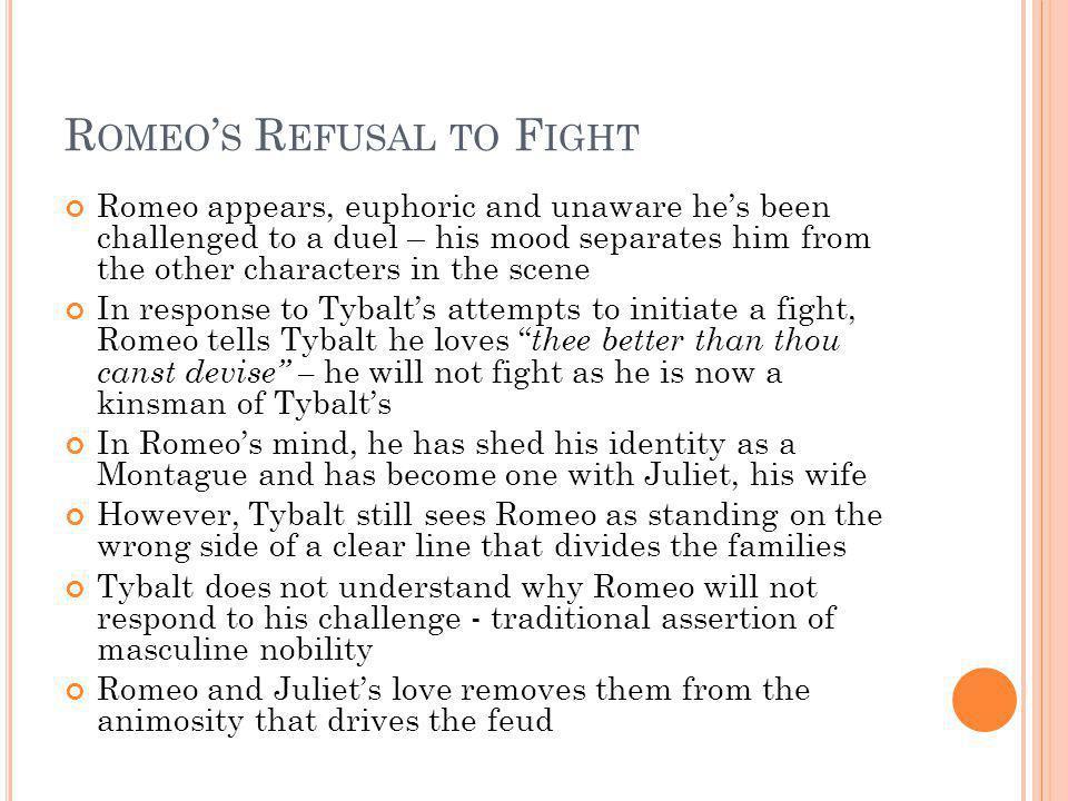Romeo's Refusal to Fight