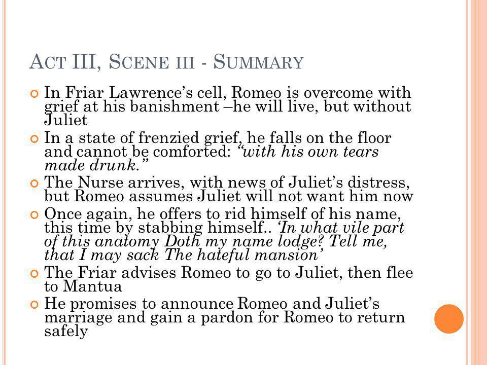 Act III, Scene iii - Summary