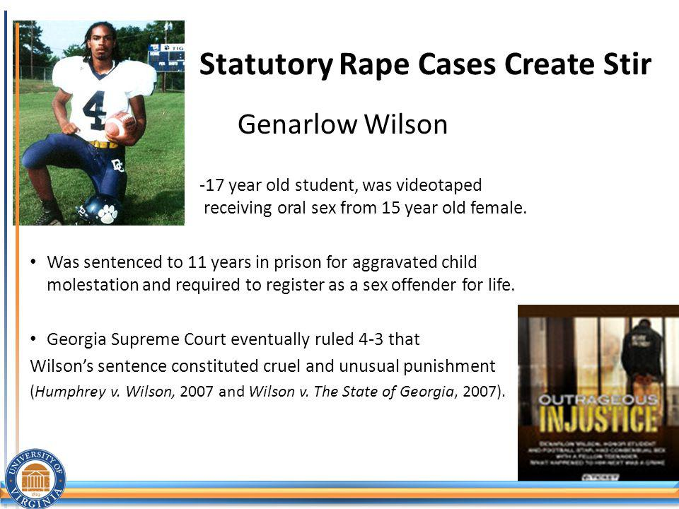 Statutory Rape Cases Create Stir