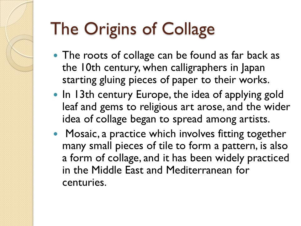 The Origins of Collage