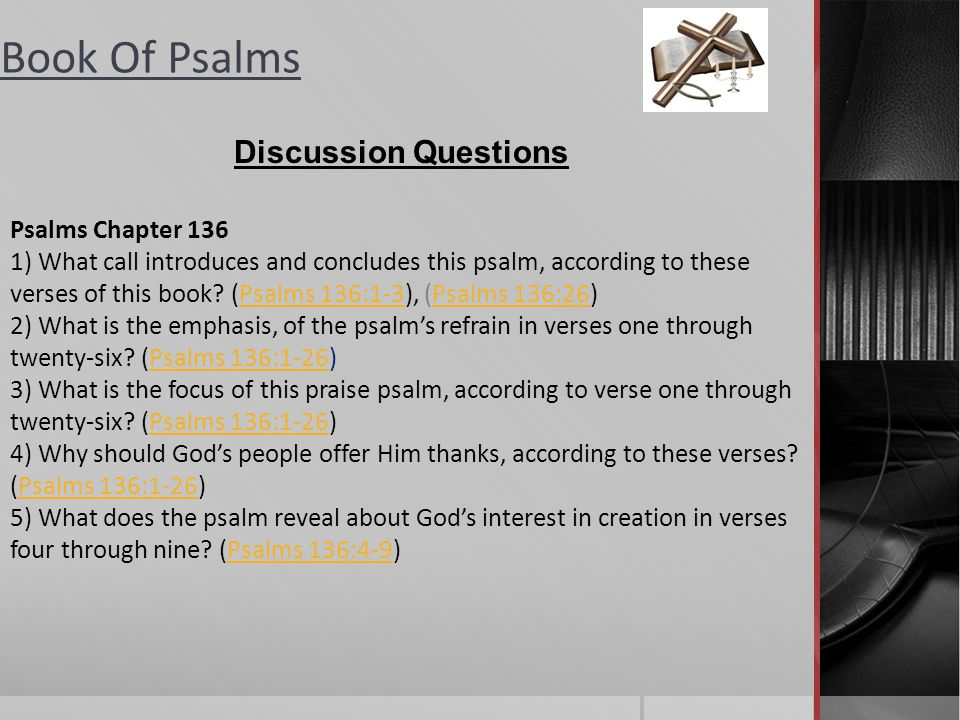 Discussion Questions Psalms Chapter 136