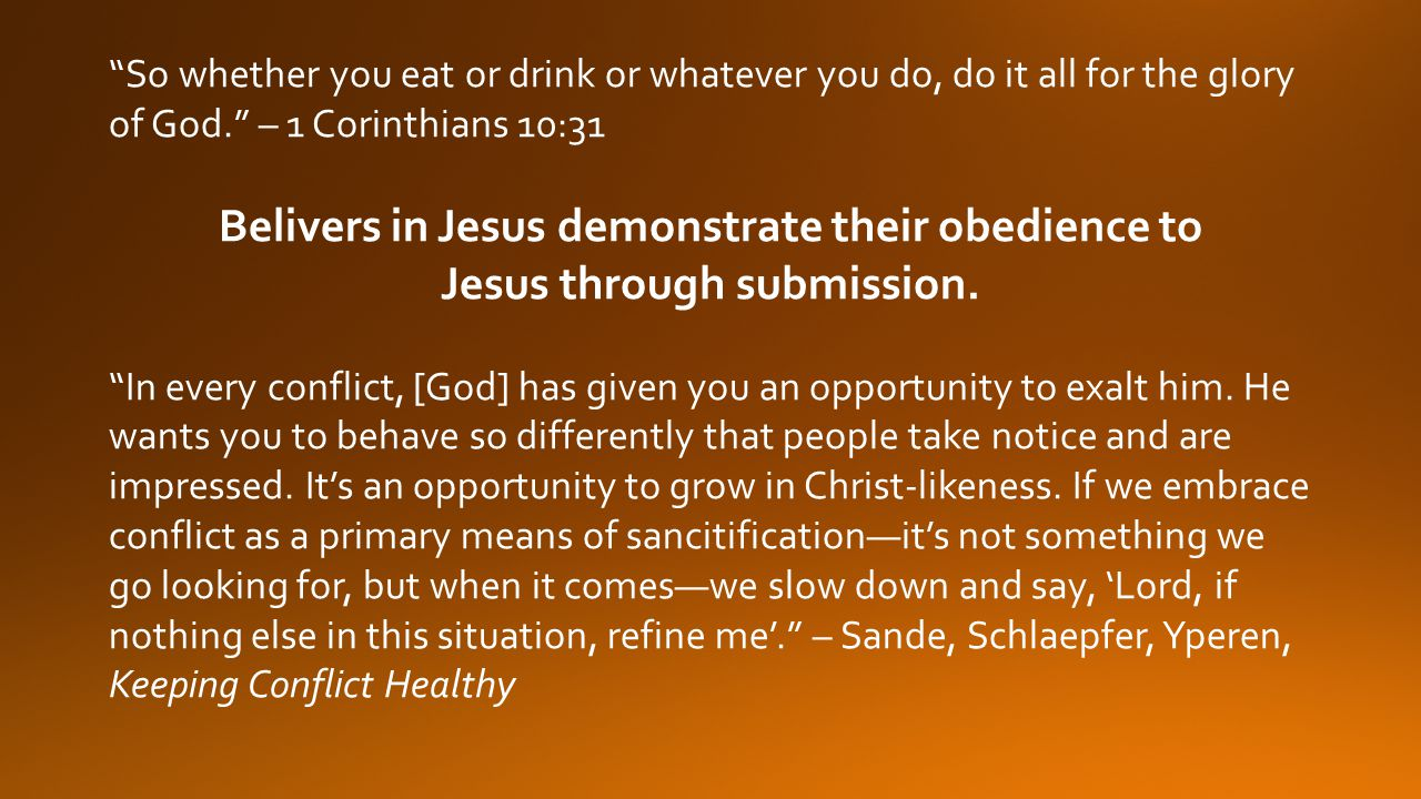 Belivers in Jesus demonstrate their obedience to
