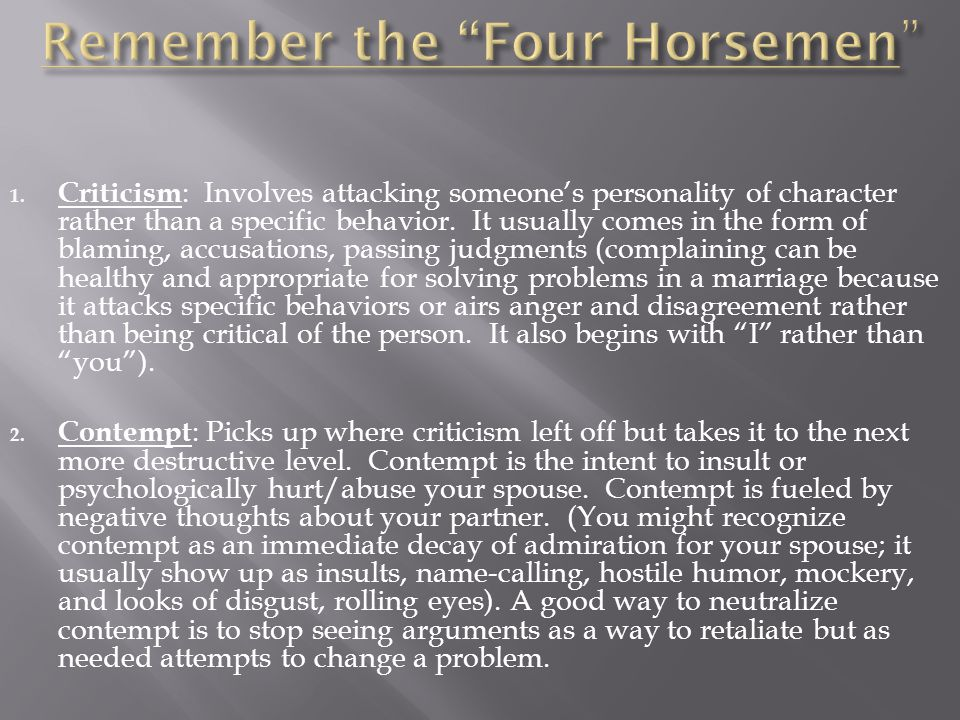 Remember the Four Horsemen