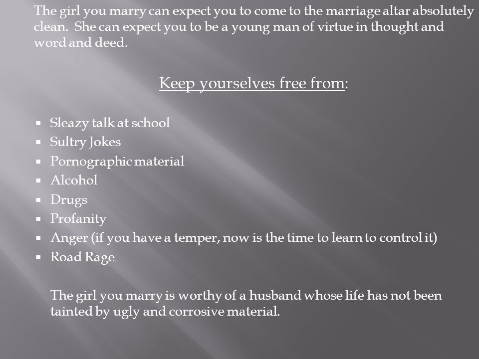 Keep yourselves free from: