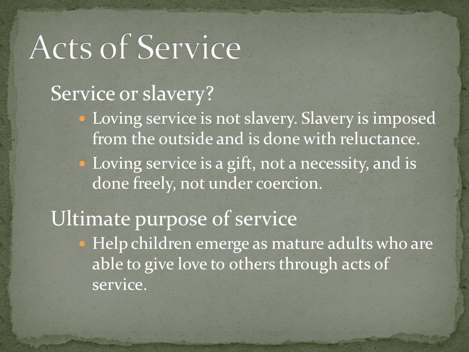 how to love acts of service