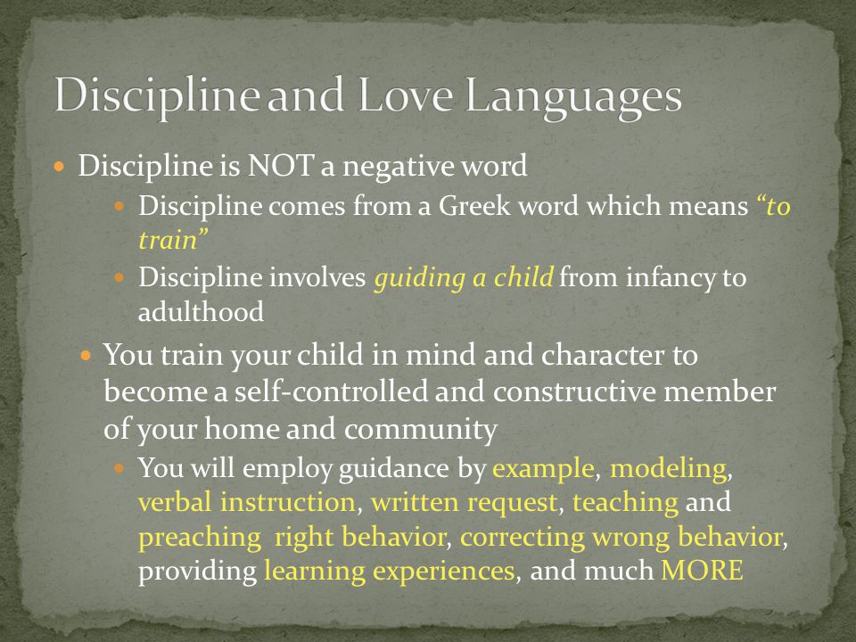 Discipline and Love Languages