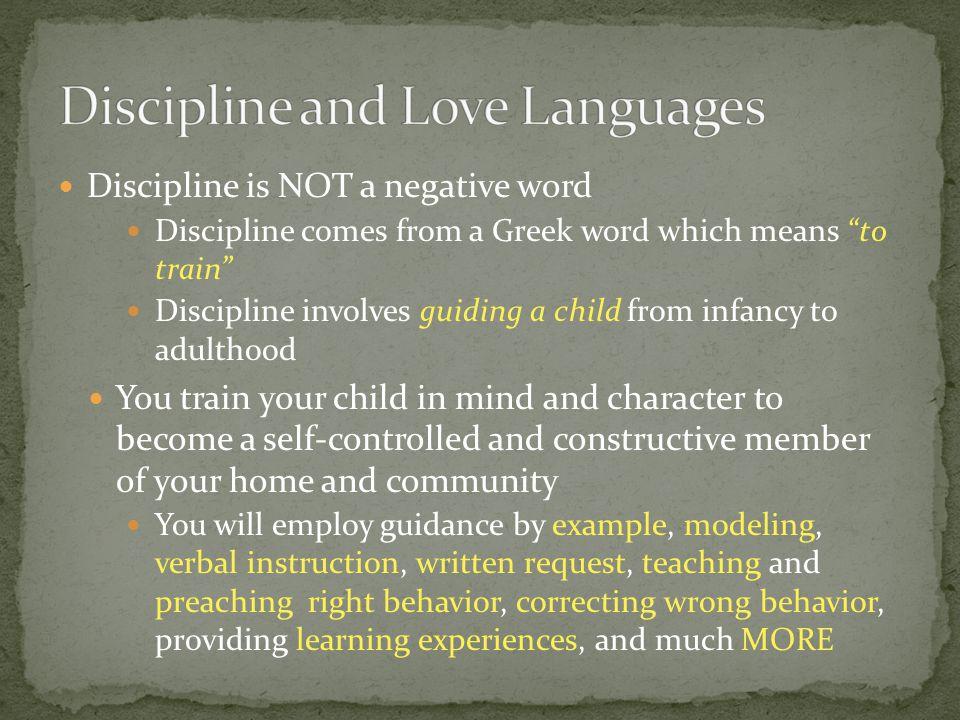 Discipline and Love Languages