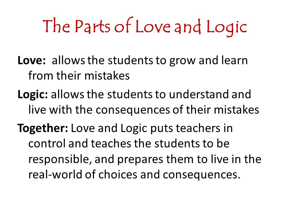 The Parts of Love and Logic