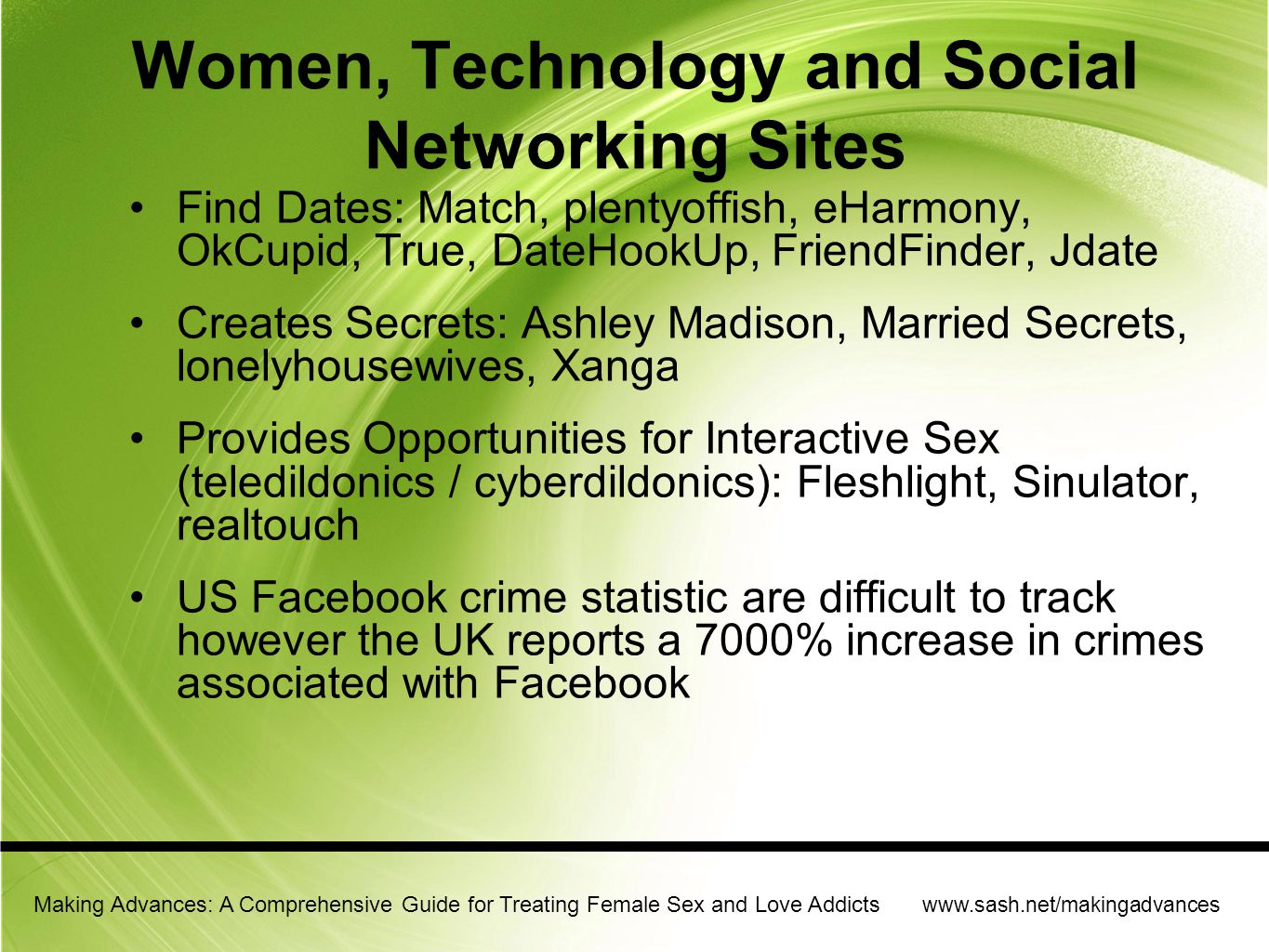 Women, Technology and Social Networking Sites