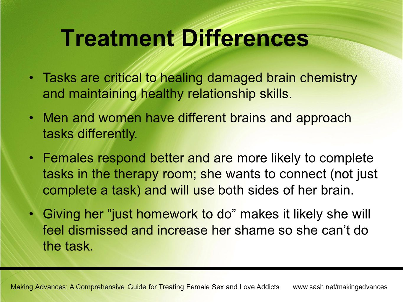 Treatment Differences