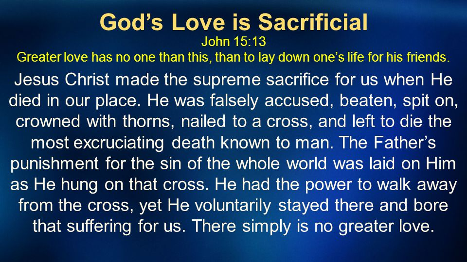 God's Love is Sacrificial