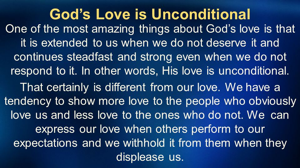 God's Love is Unconditional