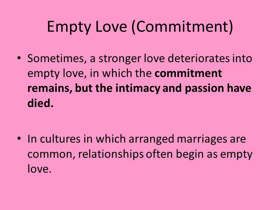 Empty Love (Commitment)