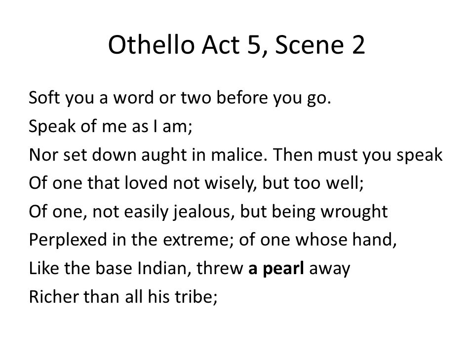 Othello Act 5, Scene 2
