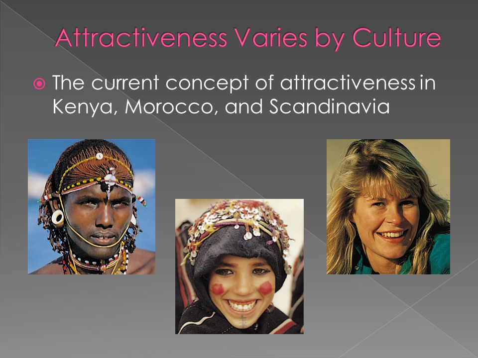 Attractiveness Varies by Culture