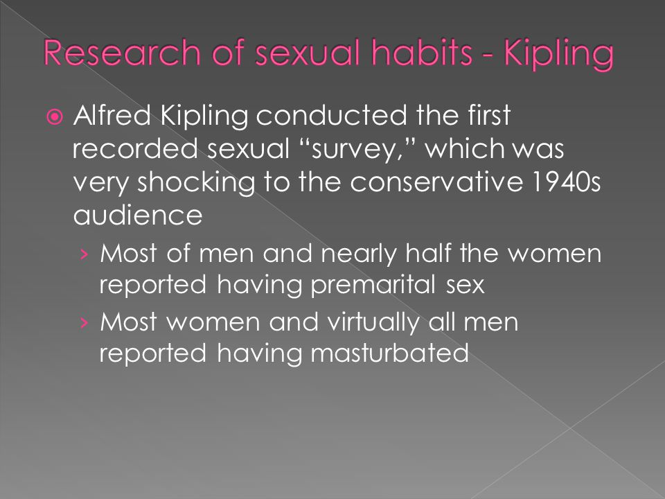 Research of sexual habits - Kipling