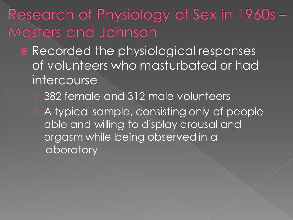 Research of Physiology of Sex in 1960s – Masters and Johnson