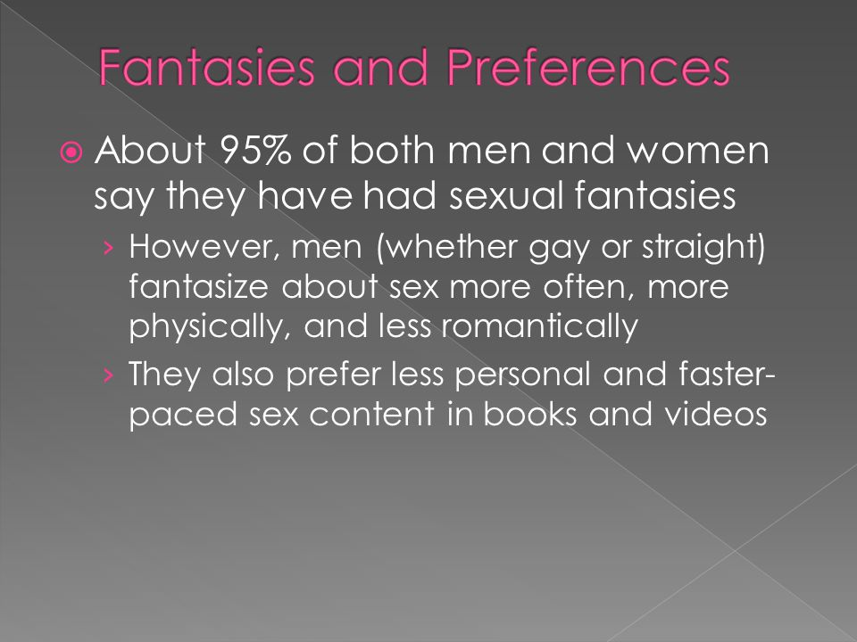 Fantasies and Preferences