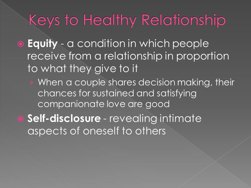 Keys to Healthy Relationship