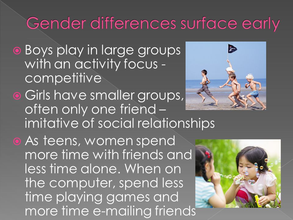 Gender differences surface early