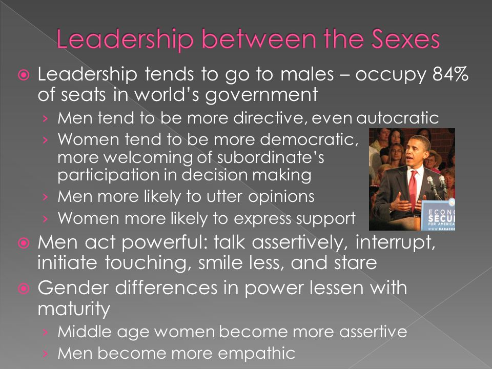 Leadership between the Sexes