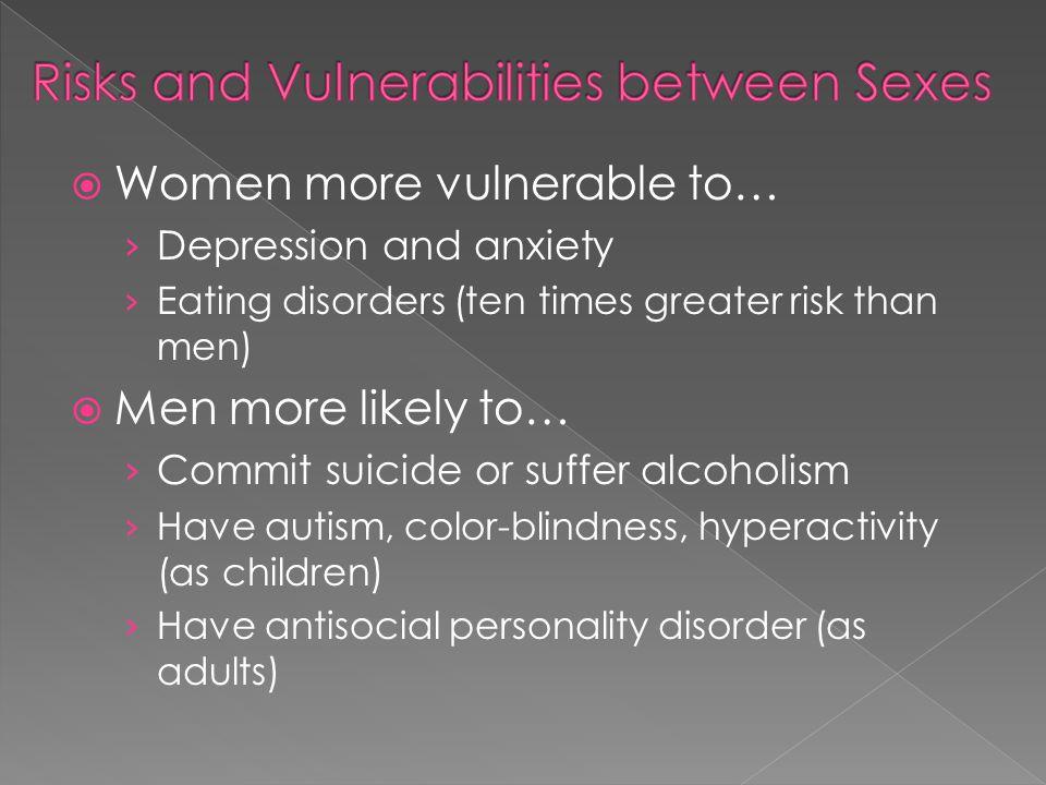 Risks and Vulnerabilities between Sexes