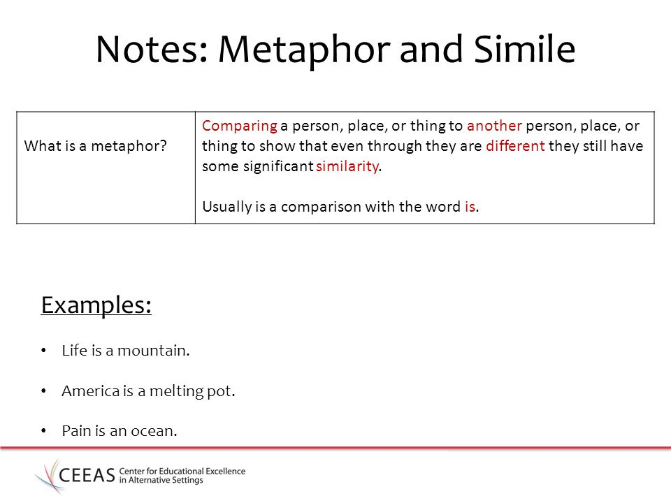 Notes: Metaphor and Simile