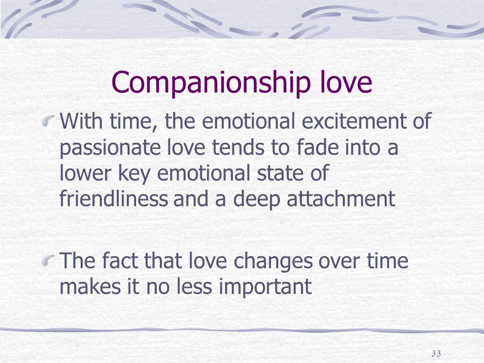 Companionship love