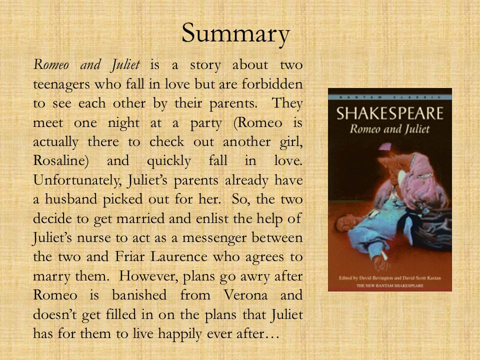 romeo and juliet summary book report Trying to imagine plot summary in romeo and juliet check out shmoop's visual take on what it's all about.