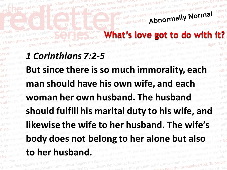 1 Corinthians 7:2-5