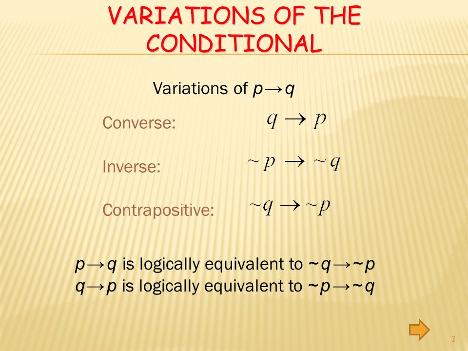 Variations of the conditional