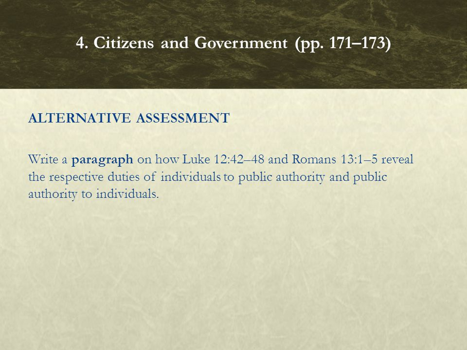 4. Citizens and Government (pp. 171–173)