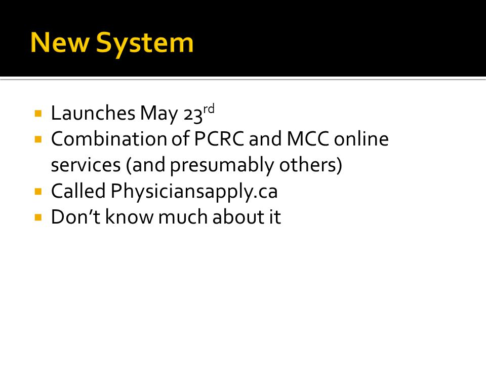 New System Launches May 23rd