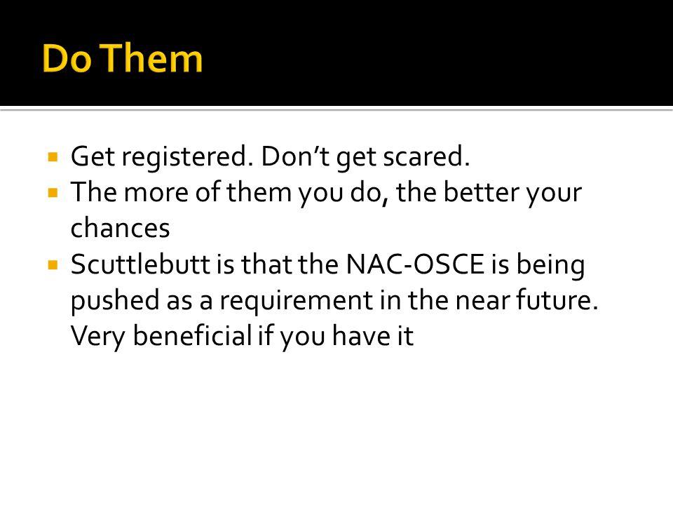 Do Them Get registered. Don't get scared.