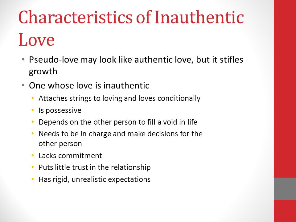 Characteristics of Inauthentic Love