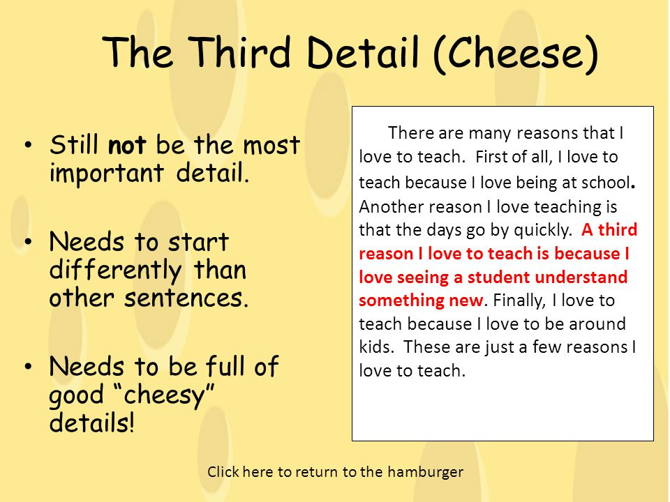 The Third Detail (Cheese)