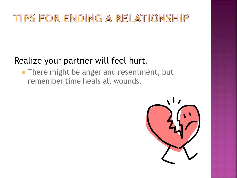 Tips for ending a relationship